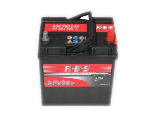 Autó Akkumulátor ABS 12V 35Ah Jobb+(535700)