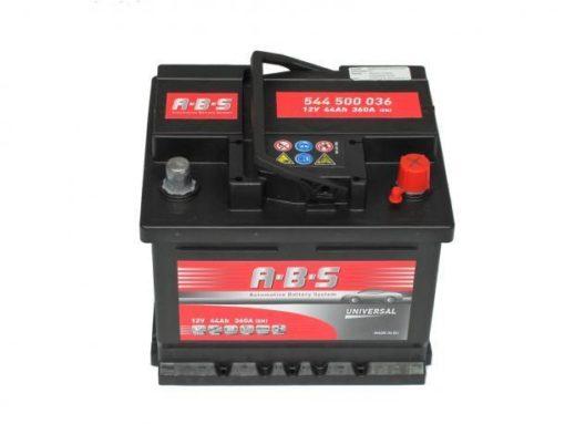 Autó Akkumulátor ABS 12V 44Ah Jobb+(544500)