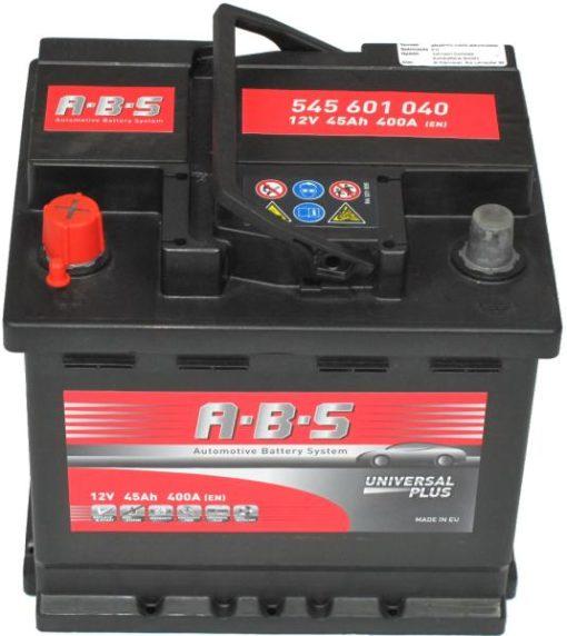 Autó Akkumulátor ABS 12V 45Ah Bal+(545601)