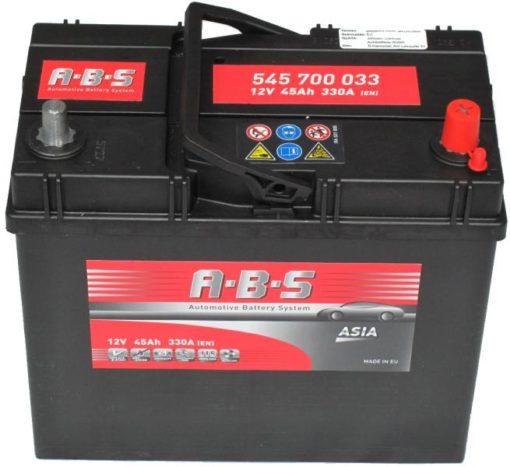 Autó Akkumulátor ABS 12V 45Ah Jobb+(545700)