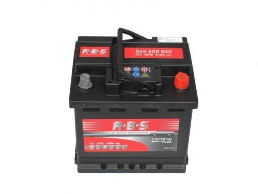 Autó Akkumulátor ABS 12V 45Ah Jobb+(545600)