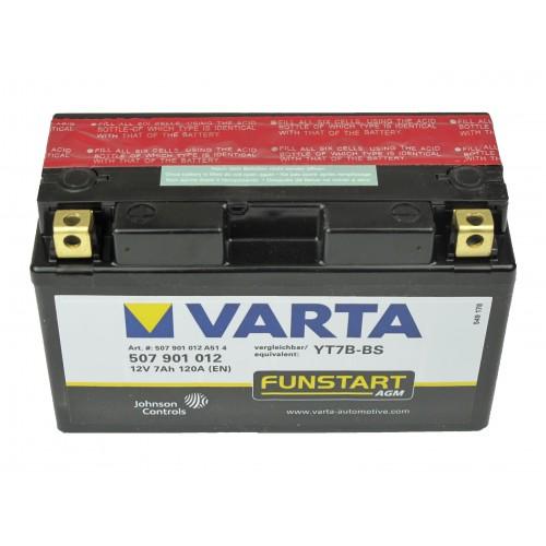 Motor akkumulátor Varta 12V 7Ah 507901 YT7B-BS